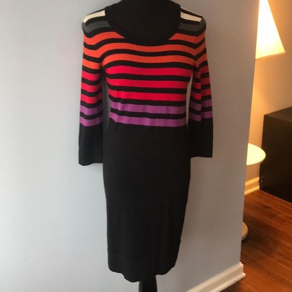 Hobbs of London silk blend striped sweater dress